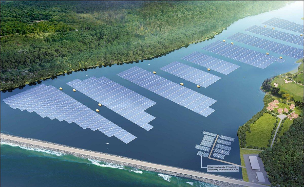 Parc solaire flottant à Singapour © PUB de Singapour
