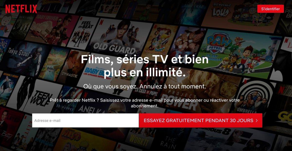 Netflix essai gratuit © Capture d'écran