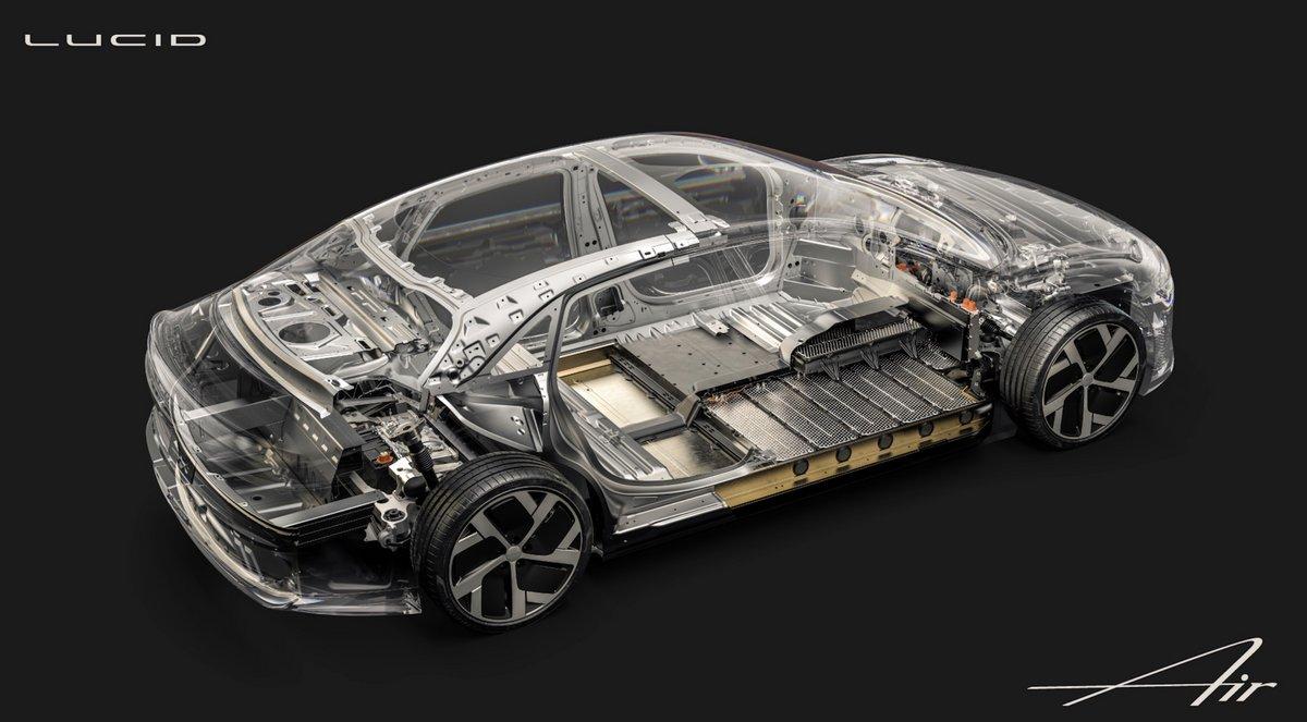Lucid Air (batteries et structure) © Lucid Air