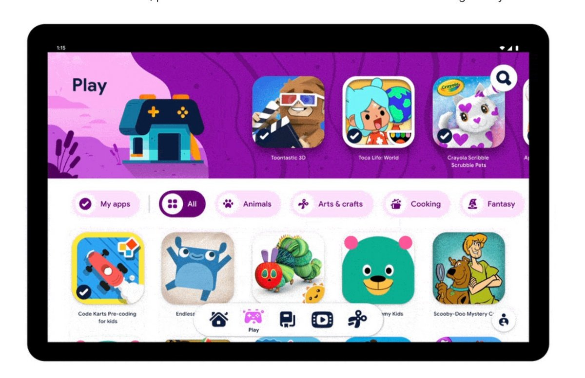 raw accept?width=1200&fit=max&hash=71500518c838898aa728cedbbd862efd50b610b4 - Google launches Kids Space, a child mode for Android first available only at Lenovo - Clubic