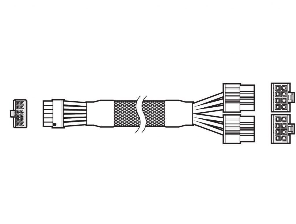 Câble d'alimentation 12 broches Corsair © Corsair