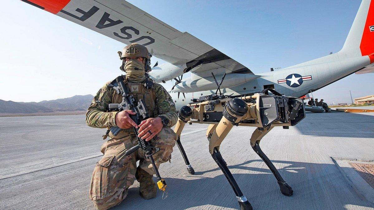 Chien robot armée © © U.S. AIR FORCE/CORY D. PAYNE