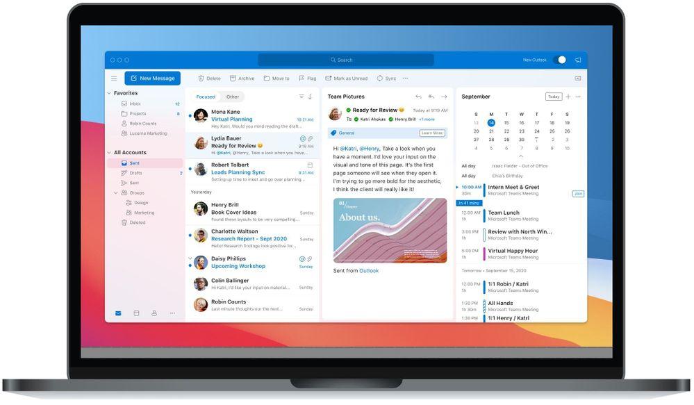 Microsoft Outlook pour macOS 2020 © Microsoft