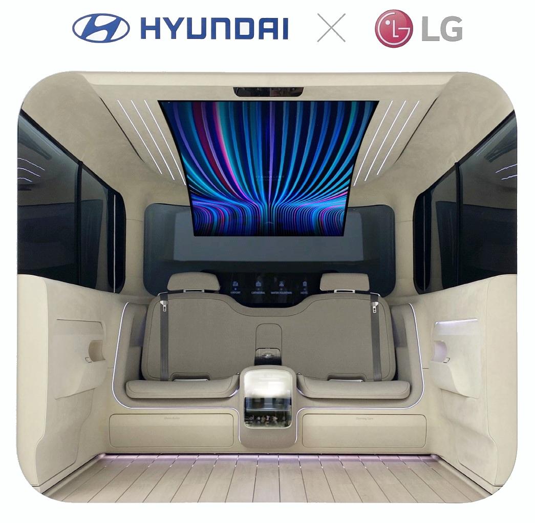LG et Hyundai écran OLED 77 pouces © LG
