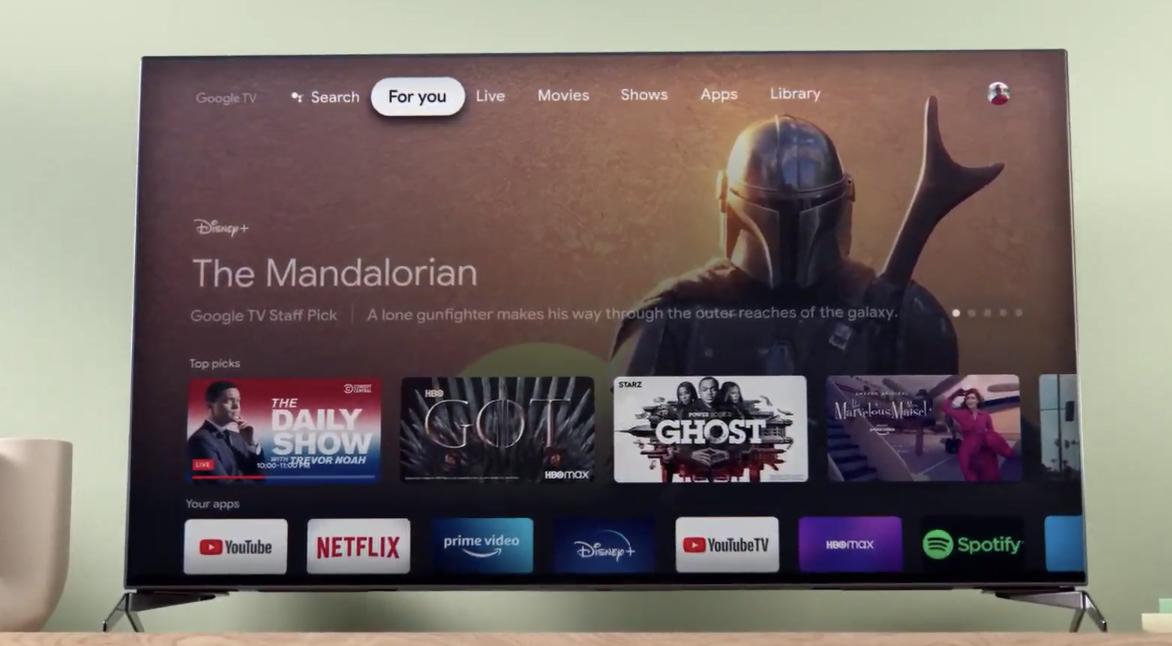 Google TV sur Chromecast 2020