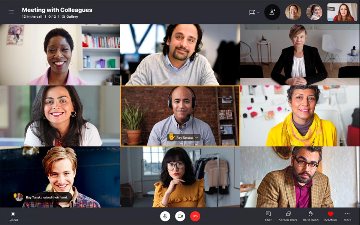 Skype Insider Lever la main © Microsoft