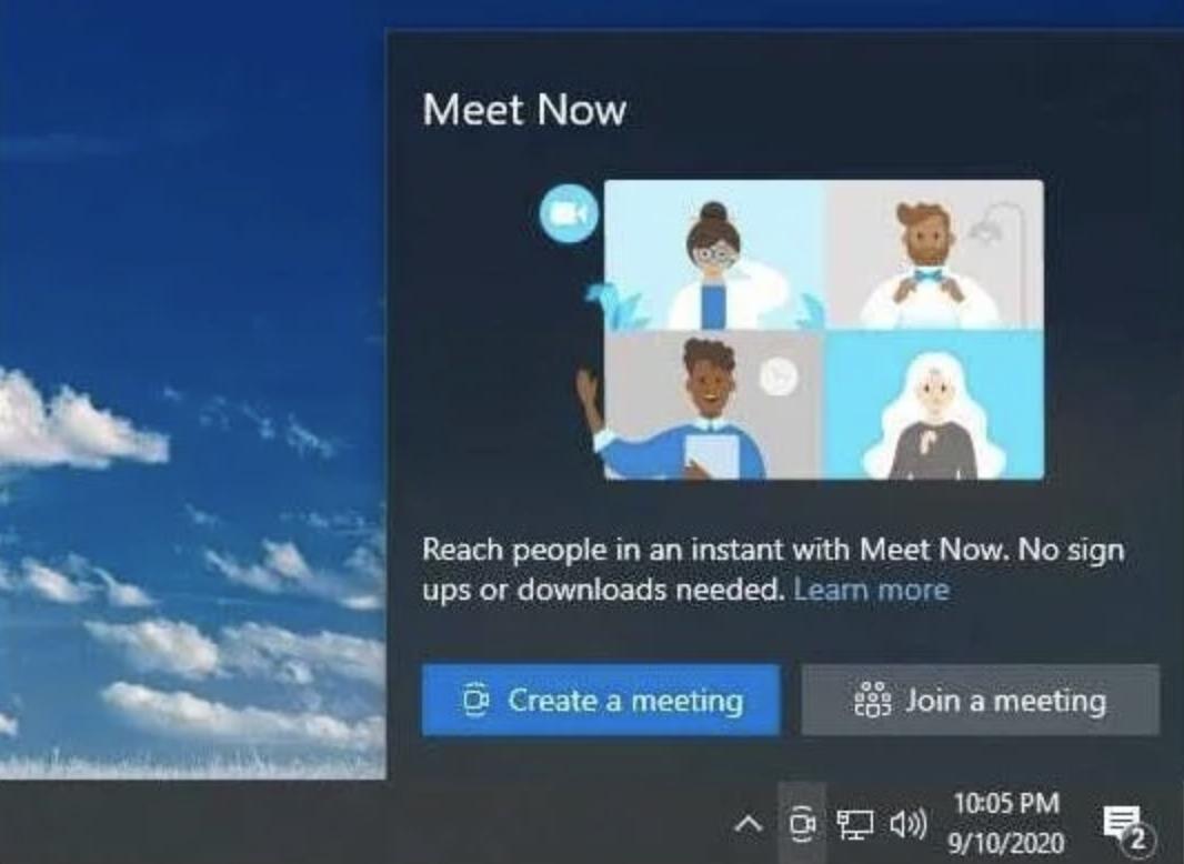 Skype Meet Now Windows 10