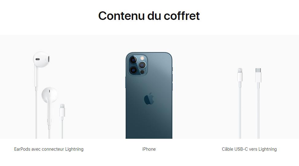 iPhone 12 Contenu Coffret