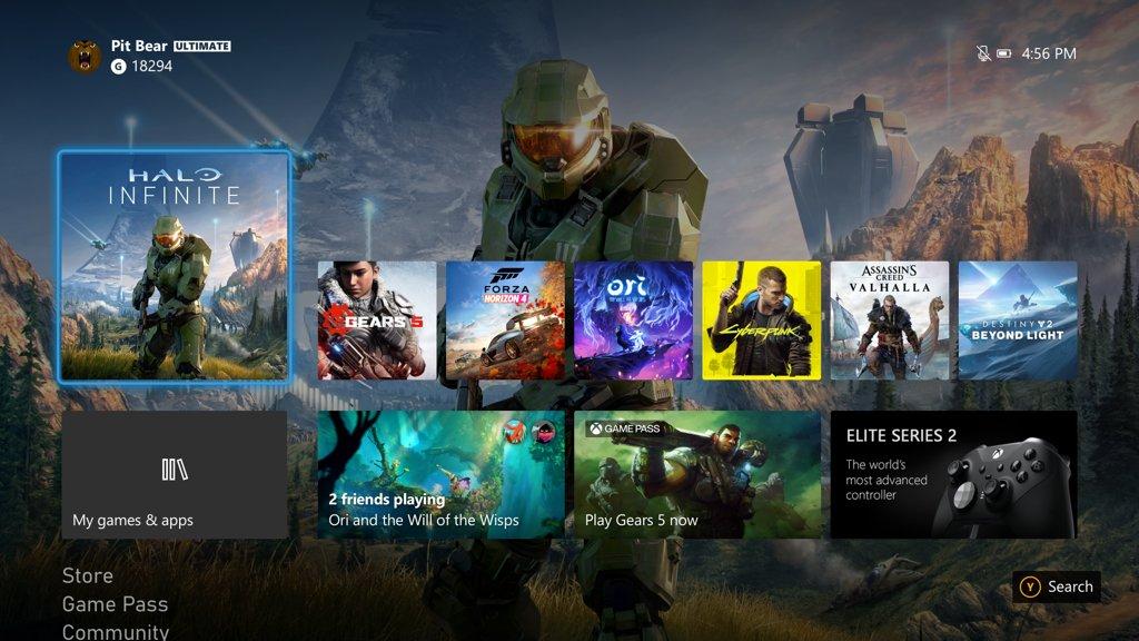 Xbox New UI © Xbox