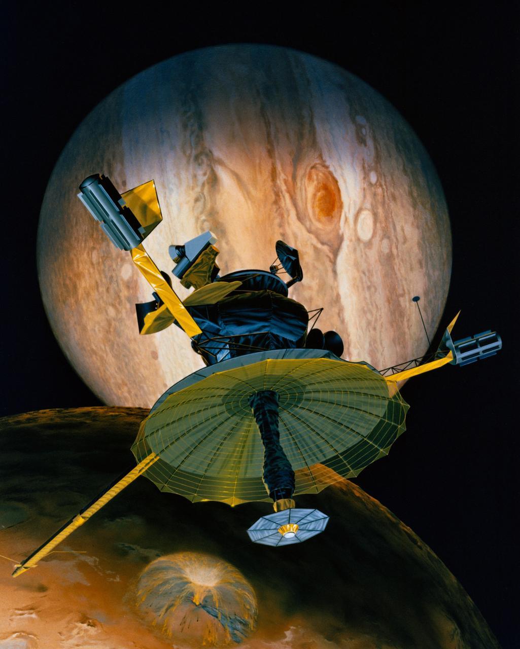 Galileo sonde Jupiter vue d'artiste © NASA