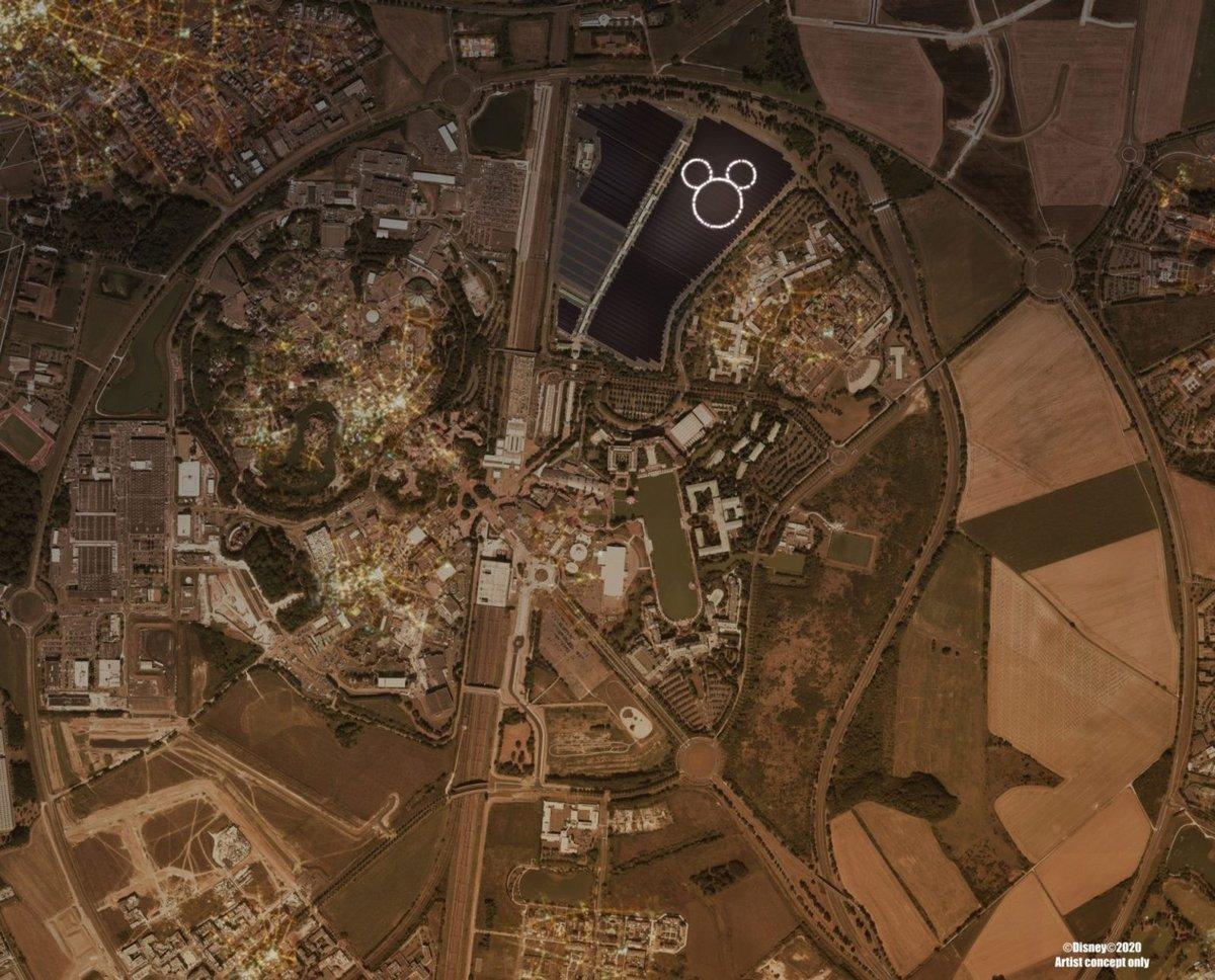 Disneyland Paris centrale photovoltaïque © Disney