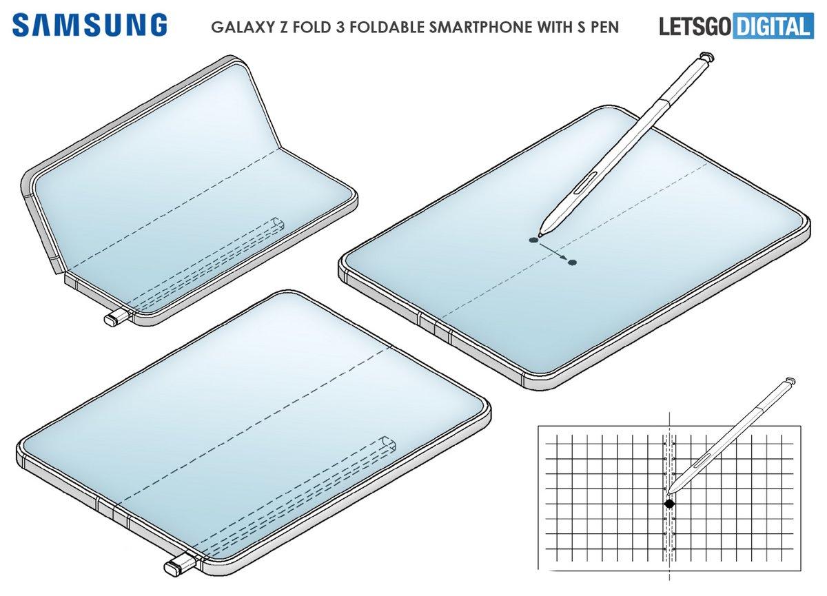 Samsung Galaxy Z Fold brevet s-pen © © LetsGoDigital