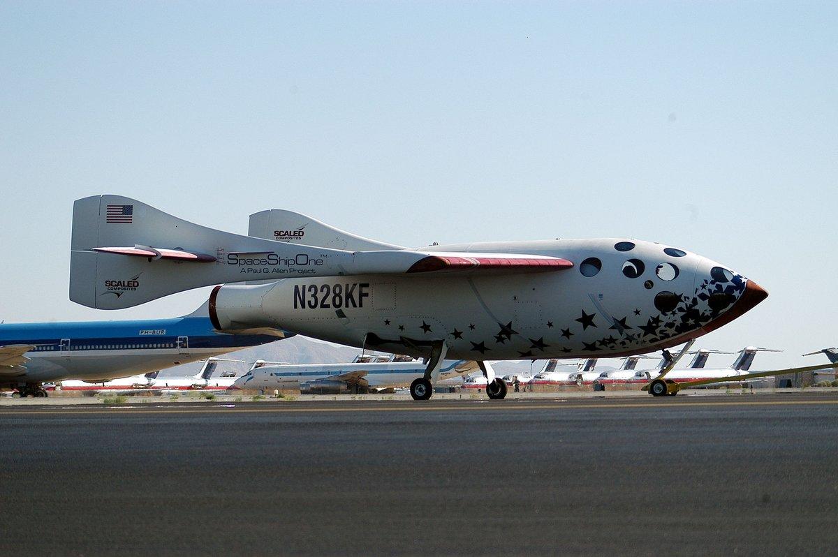 SpaceShipOne avion fusée 1 © Wikipedia/D Ramey Logan