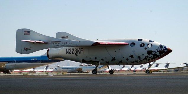 Avion fusée SpaceshipOne : un rêve touché du bout des doigts