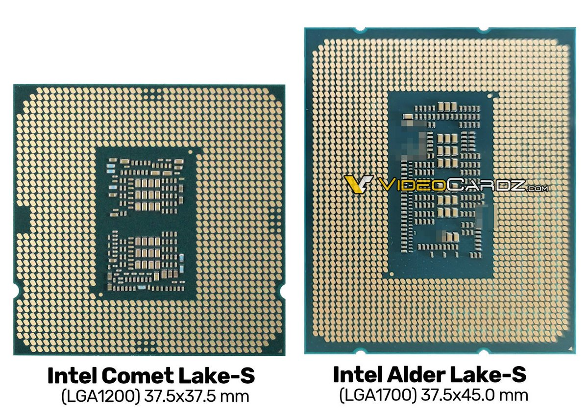 Intel Alder Lake-S © Videocardz.com