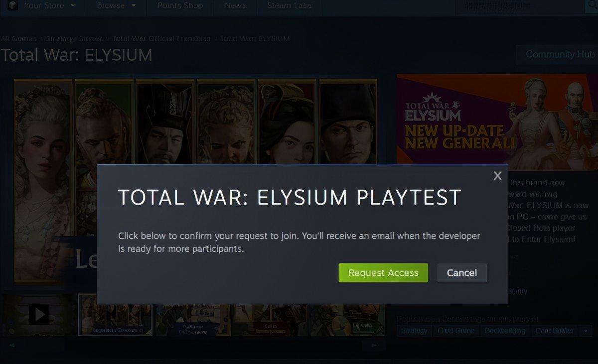 Steam Playtest © Steam
