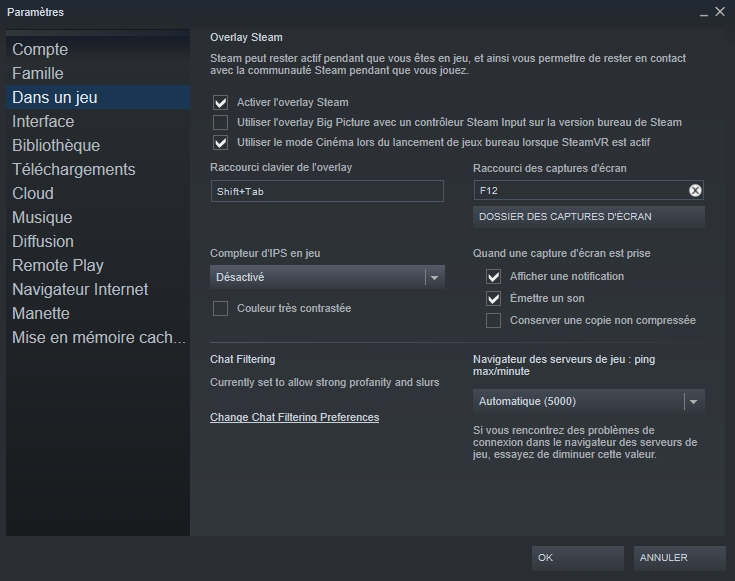 Steam FPS © Capture d'écran