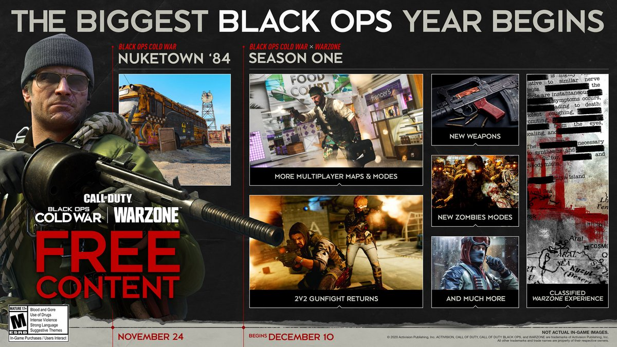 Call of Duty Black Ops Cold War roadmap © © Activision