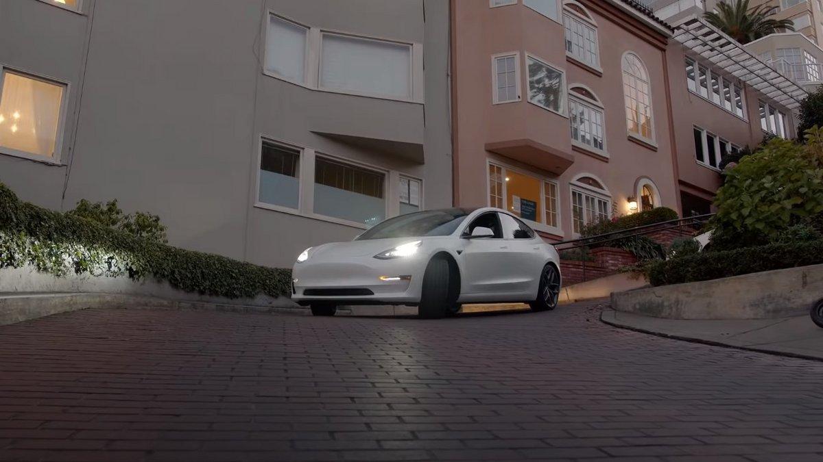 Tesla Model 3 autonome, San Francisco © Capture d'écran Tesla Raj