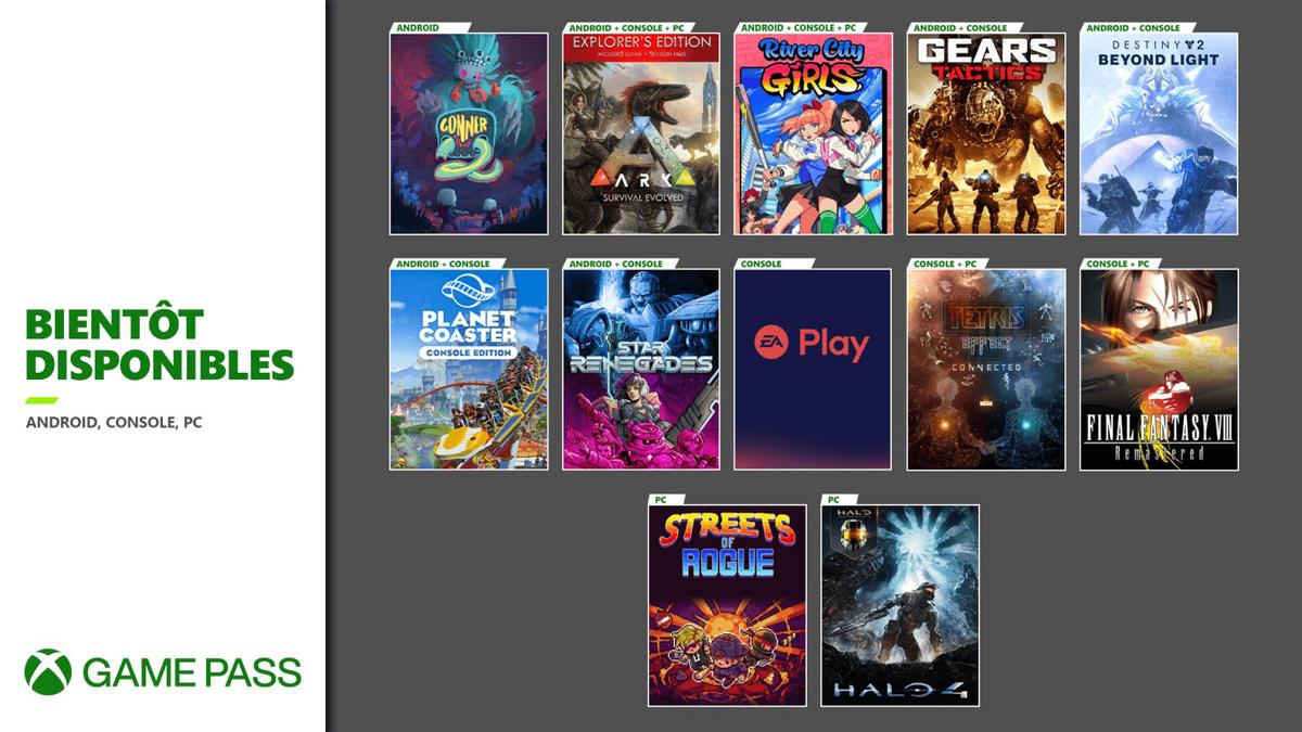 Xbox Game Pass novembre 2020 2