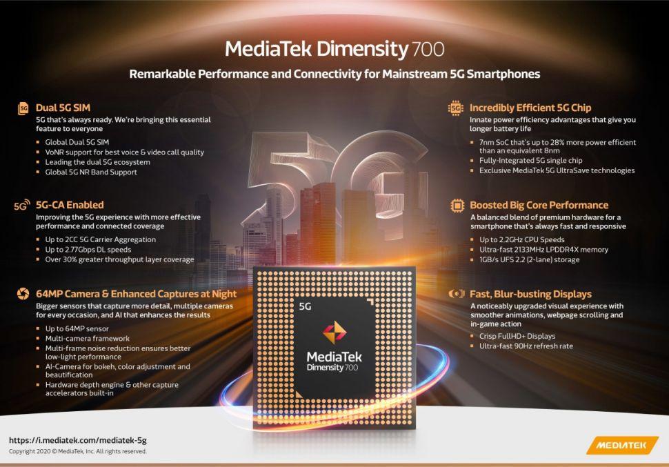 MediaTek Dimensity 700 5G © © MediaTek