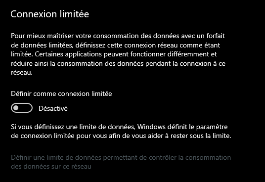 Windows 10 connexion limitée © clubic.com