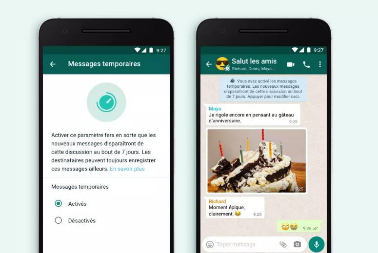 WhatsApp Messages Temporaires