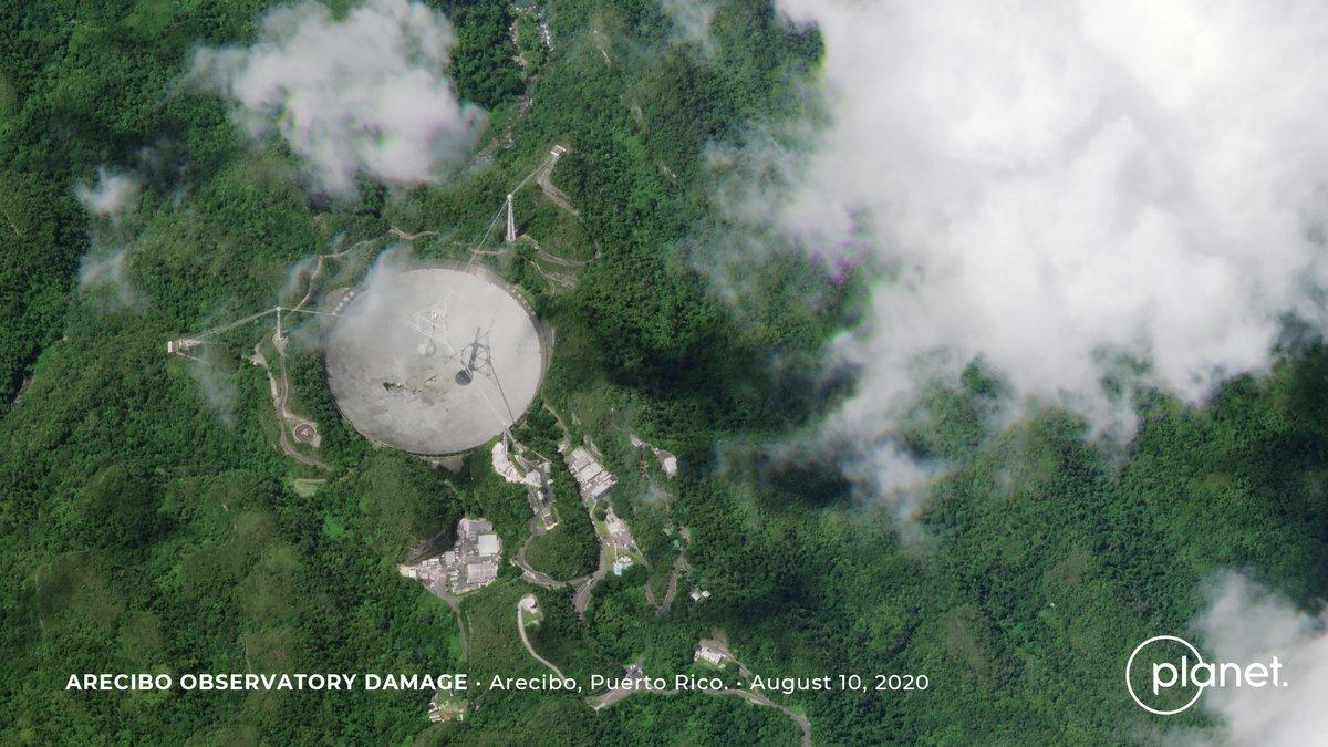 Arecibo orbite casse © Planet Labs 2020