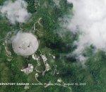 Fragilisé et mis à l'arrêt, l'iconique radiotélescope d'Arecibo s'est effondré