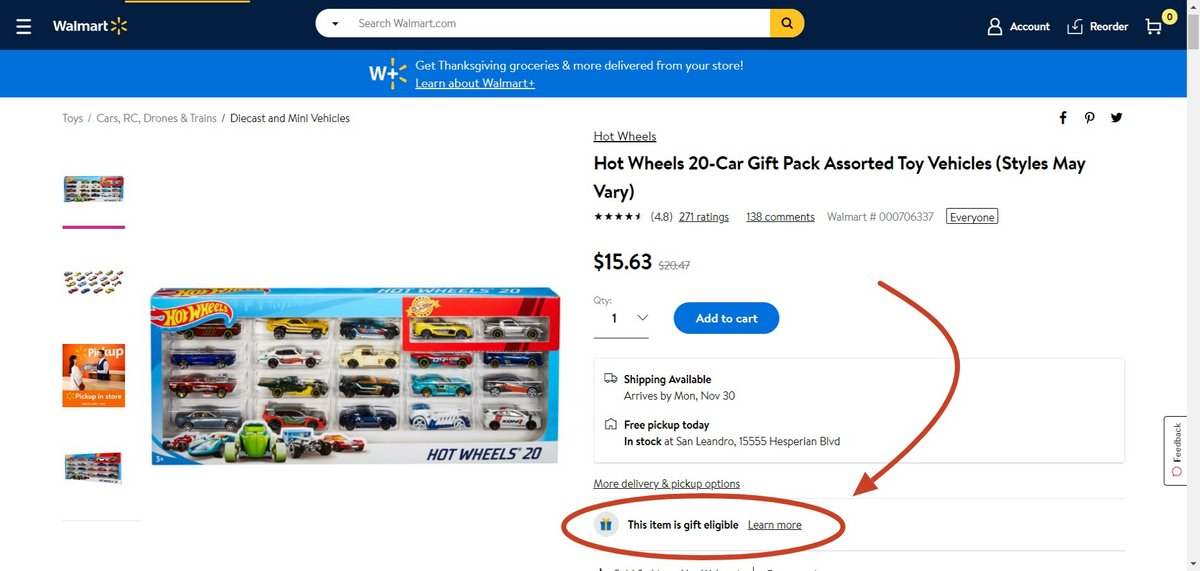 Walmart cadeaux © Clubic