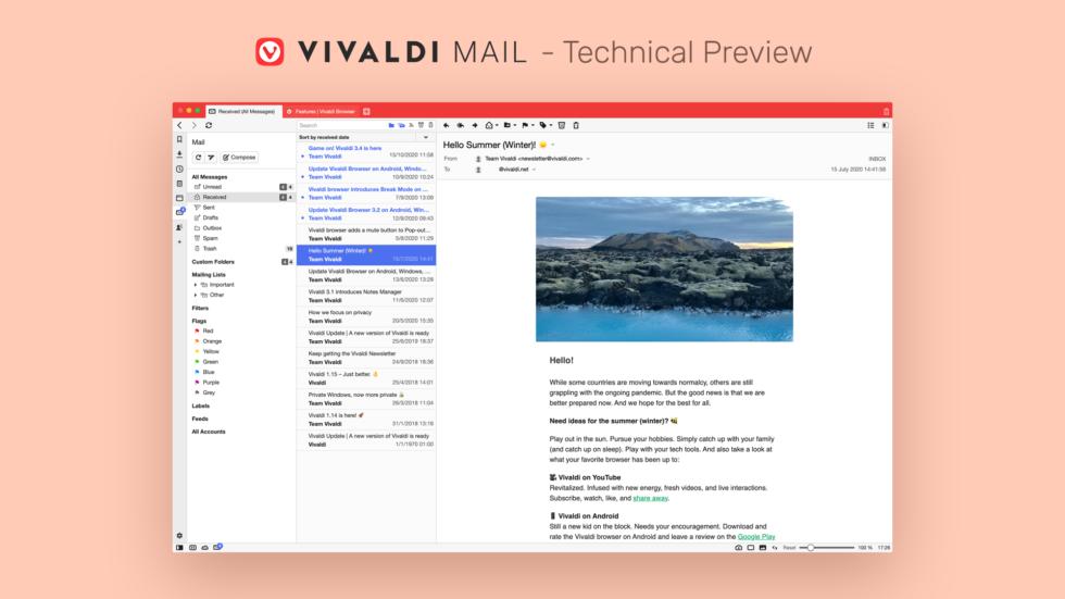 Vivaldi Mail © Vivaldi