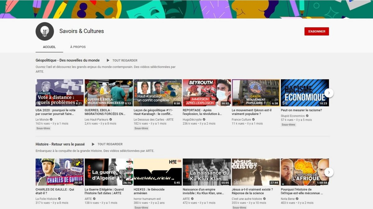 YouTube Savoirs et Cultures