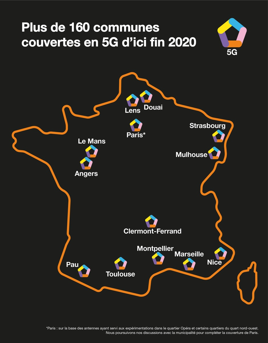 Orange communes couvertes 5G © Orange