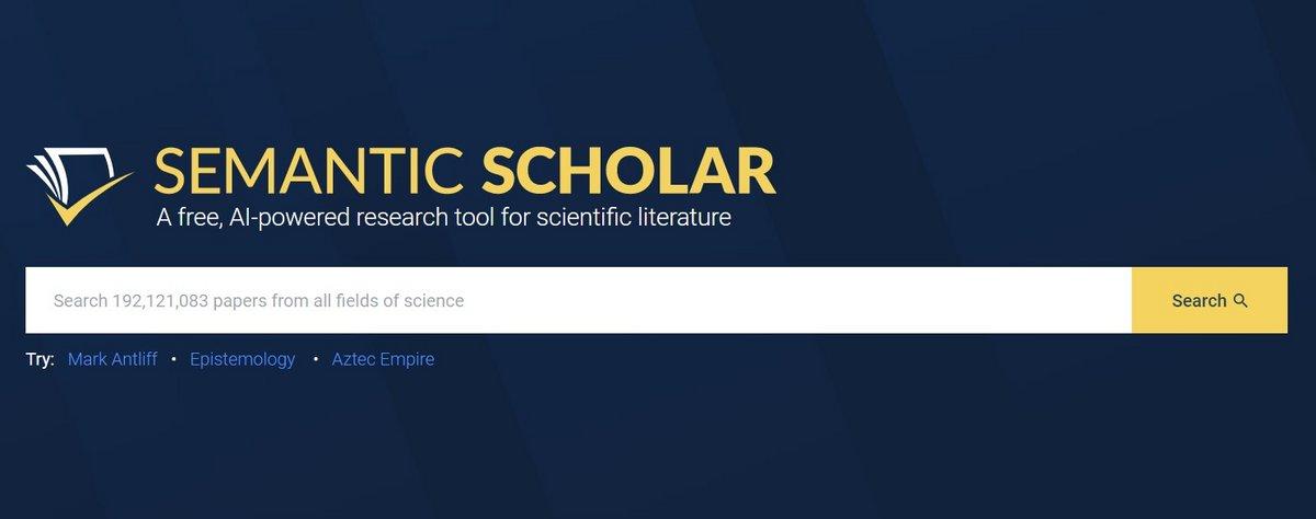 Semantic Scholar site © Semantic Scholar