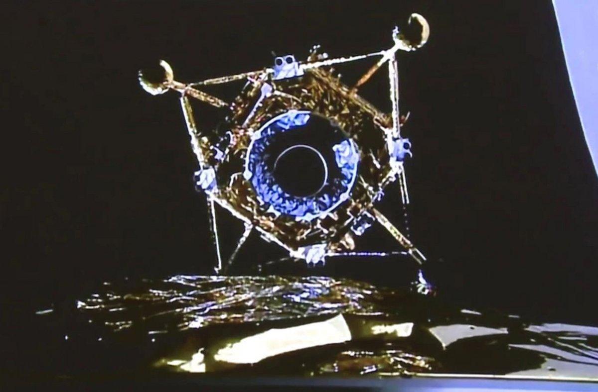 Chang'E 5 atterrisseur alunisseur éjection © CNSA/CLEP