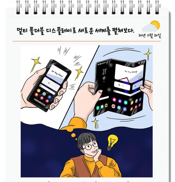 Samsung Fold 3 times © Samsung