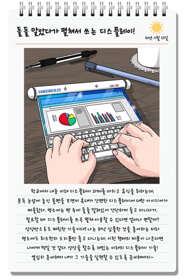 Ecran déroulant Samsung © Samsung