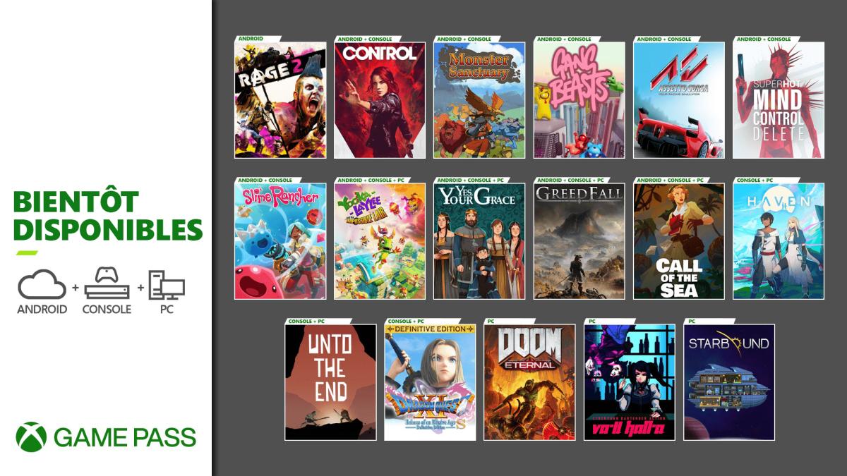 Xbox Game Pass décembre 2020 © © Microsoft