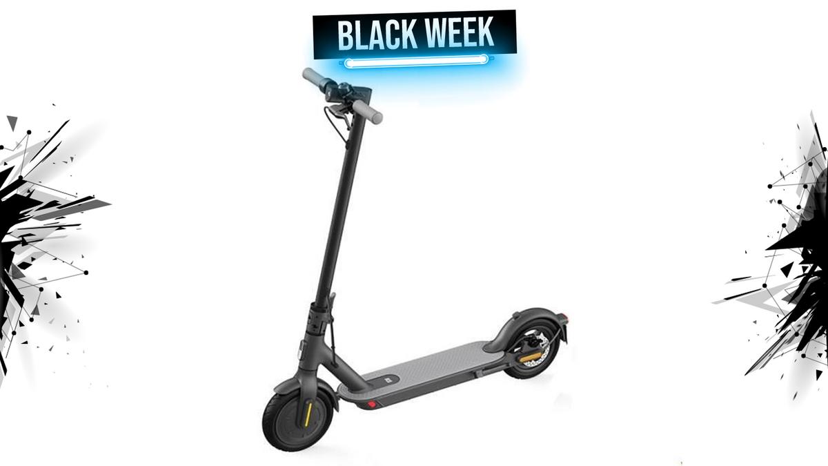 xiaomi electric scooter black week 1600