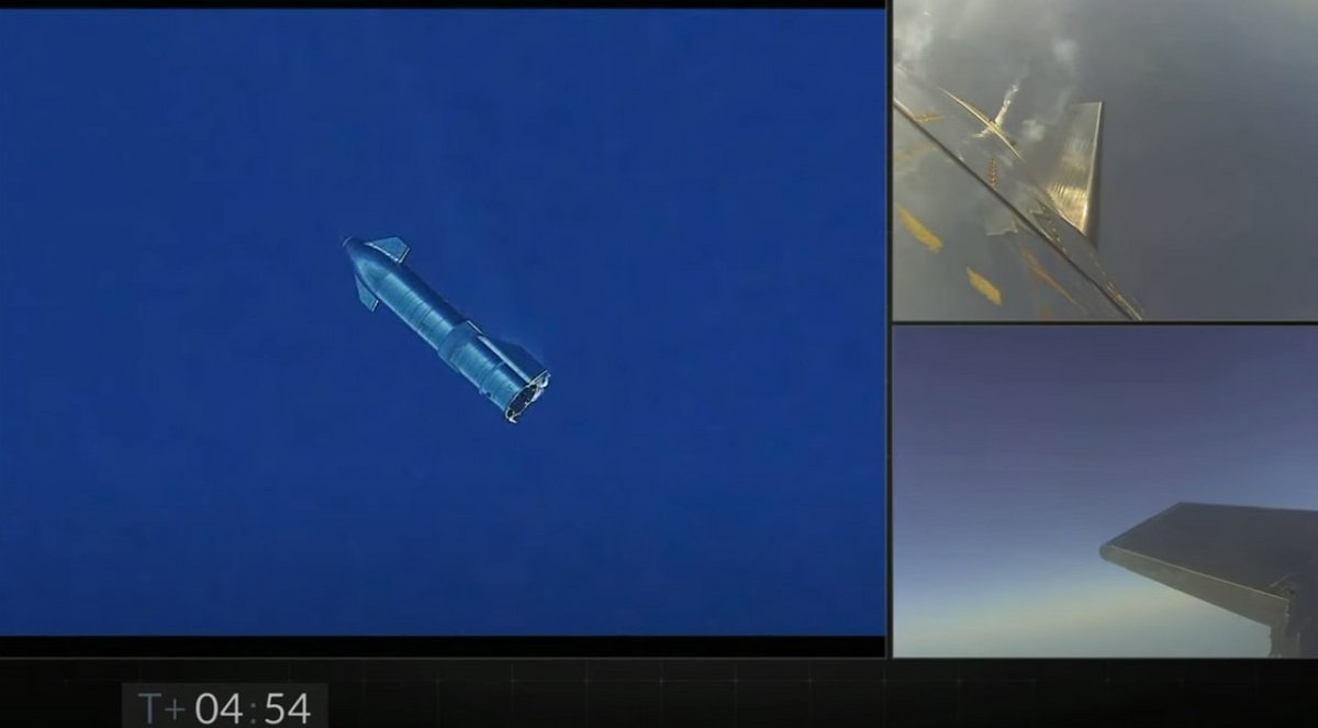 Starship Belly flop SN8 © SpaceX