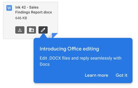 Gmail office edit
