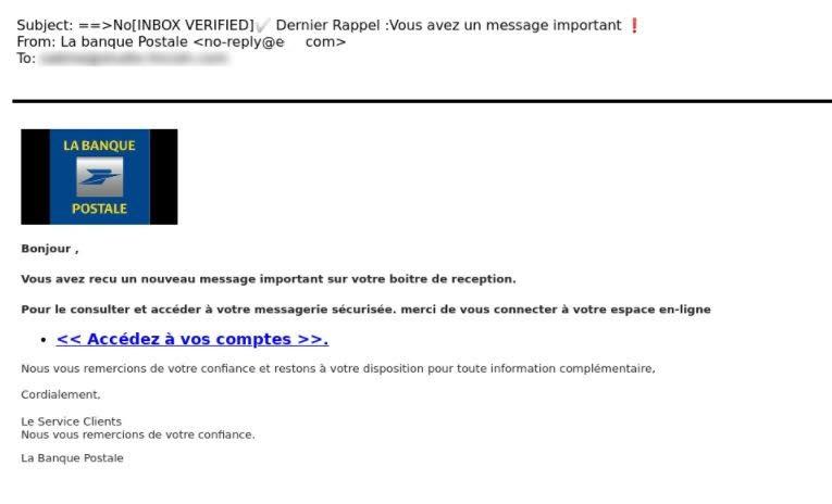 banque postale phishing