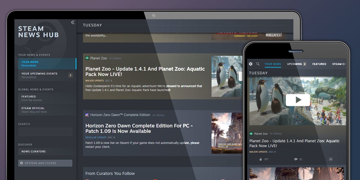 Steam News Hub © Valve