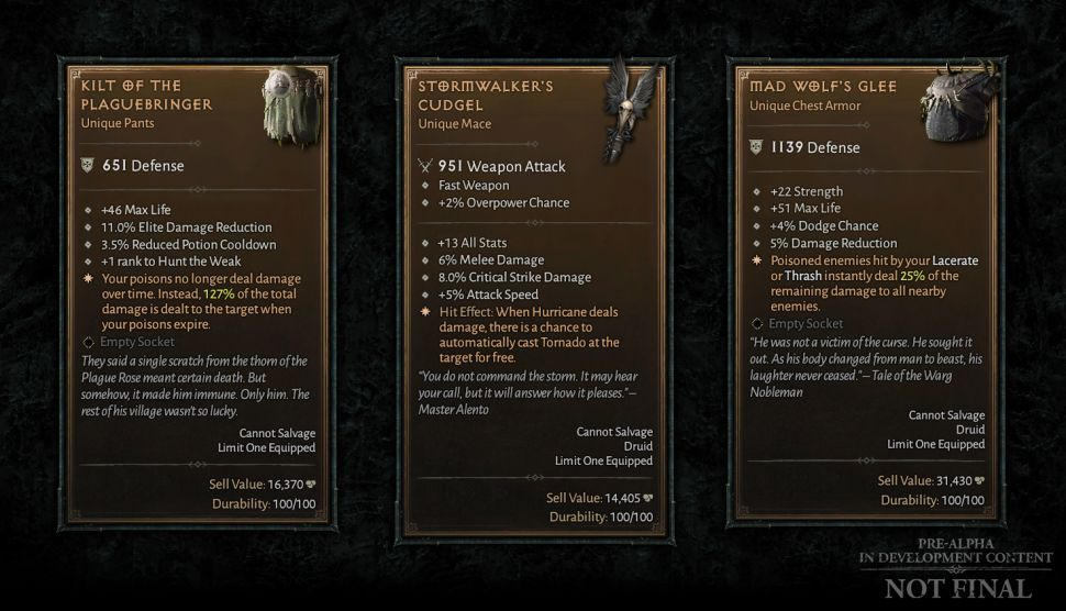Diablo IV Items © Blizzard
