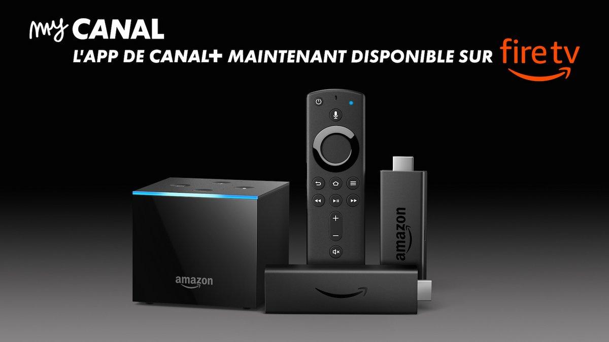 application myCANAL sur les Fire TV
