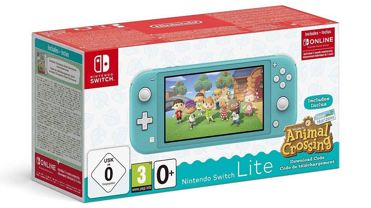 Nintendo Switch Lite avec Animal Crossing New Horizons