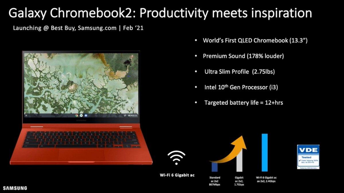 Galaxy Chromebook 2 © @_h0x0d_ sur Twitter