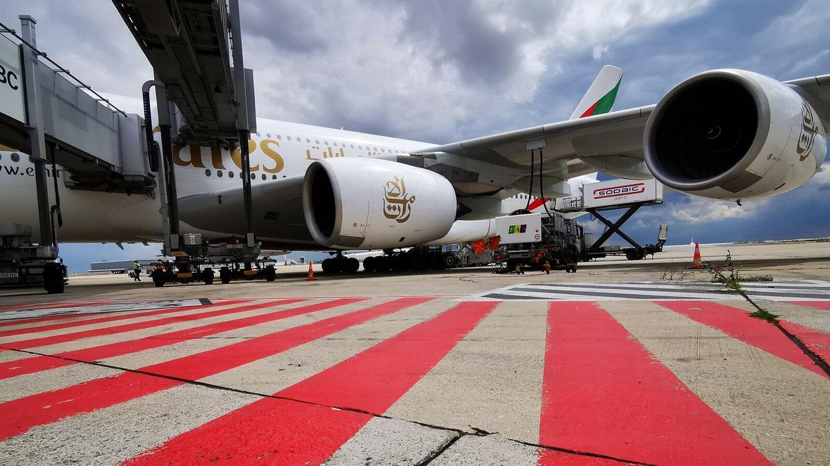 Emirates A380 réacteur © Alexandre Boero