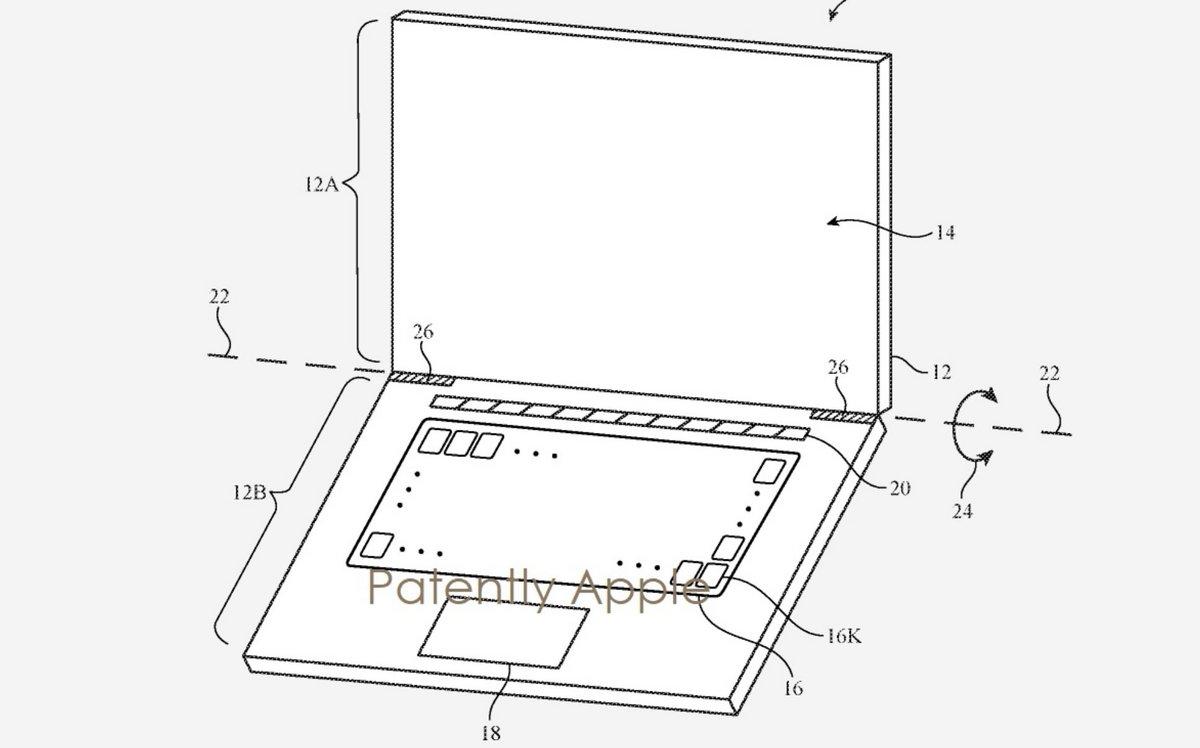 Apple brevet clavier © Patently Apple