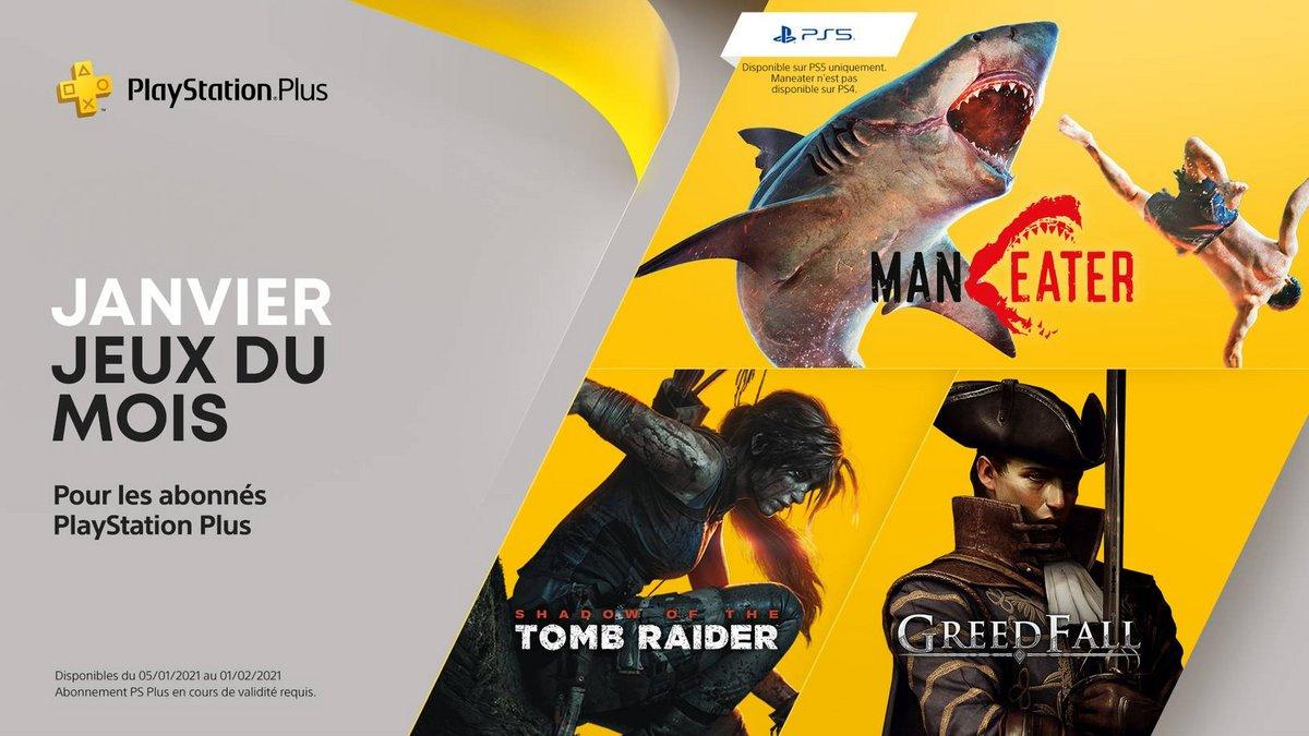 PS Plus PlayStation Plus janvier 2021 © ©Sony